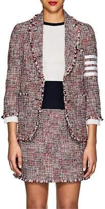 Thom Browne Women's Block-Striped Wool-Blend Tweed Two-Button Blazer