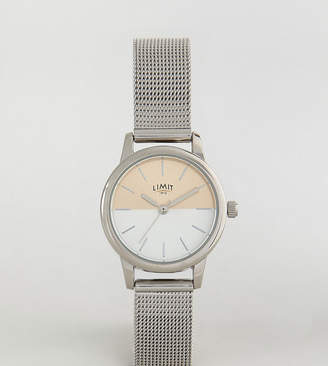 Limit Sunray Mesh Watch In Silver Exclusive To ASOS
