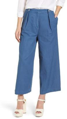 J.o.a. Chambray Wide Leg Crop Pant