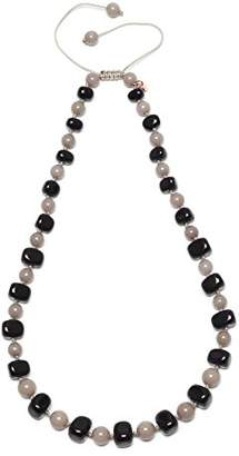 Lola Rose Mobi Black Agate Moon Quartzite Necklace