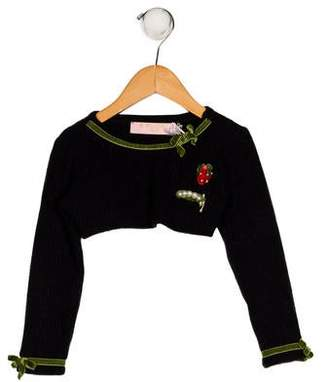 MonnaLisa Girls' Knit Crop Sweater w/ Tags