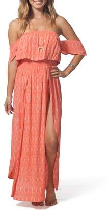 Rip Curl Saltwater Off the Shoulder Maxi Dress