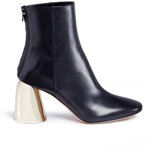 'Jezebels' metallic dome heel leather boots