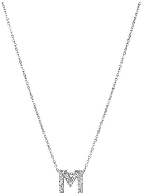 Roberto Coin Roberto Coin Diamond Initial Necklace Necklace