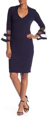 Marina Bell Sleeve Short Dress