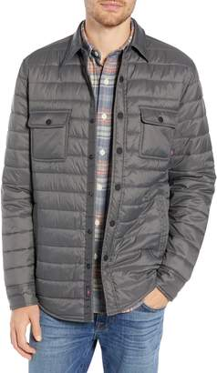 Faherty Atmosphere Quilted Water Resistant Shirt Jacket