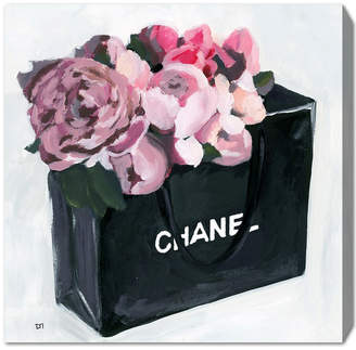 Oliver Gal Peony Bag Canvas Art By The Artist Co.
