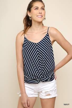 Umgee USA Favorite Navy-Stripes Top