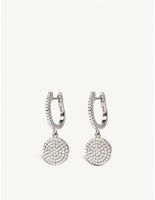 Folli Follie Discus single circle silver earrings