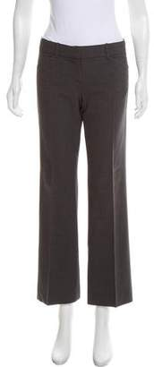 Theory Wool Mid-Rise Wide-Leg Pants
