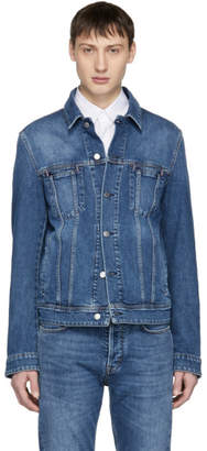 Acne Studios Bla Konst Blue Denim Pass Jacket