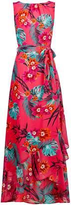 Dorothy Perkins Womens **Billie & Blossom Tall Pink Tropical Maxi Dress