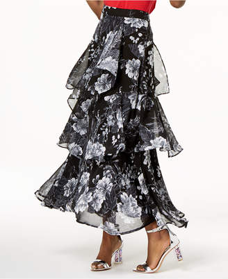INC International Concepts I.n.c. Petite Printed Tiered Skirt, Created for Macy's
