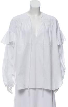Rachel Comey Ruffle-Accented Oversize Top w/ Tags