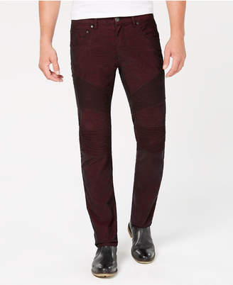 INC International Concepts I.n.c. Men's Slim-Straight Fit Stretch Corduroy Moto Jeans, Created for Macy's
