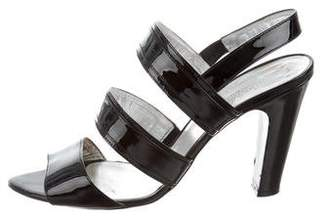 Max Mara Patent Leather Strappy Sandals