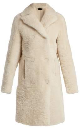 Joseph Hector Shearling Coat - Womens - Cream