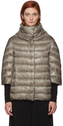 Herno Beige Classic Three-Quarter Sleeve Down Jacket