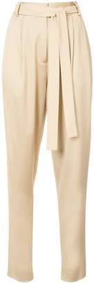 Jason Wu GREY belted slim-fit tailored trousers