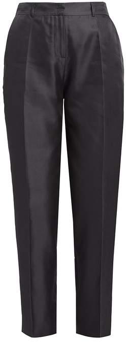 WtR Satie Black Silk Tapered Suit Trousers
