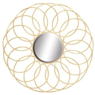 Benzara Exquisite And Elegant Metal Wall Mirror
