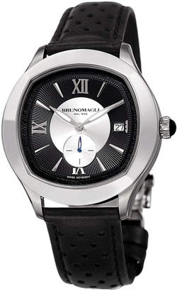 Bruno Magli Men's 42mm Amadeo Watch w/ Black Strap
