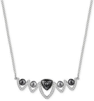 Swarovski Silver-Tone Imitation Pearl and Crystal Collar Necklace $129 thestylecure.com