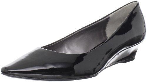 Adrienne Vittadini Footwear Women's Prince Wedge Pump,Black,9.5 M US