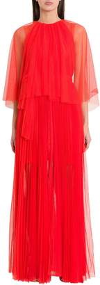 Maria Lucia Hohan Peonie Pleated Tulle Midi Dress
