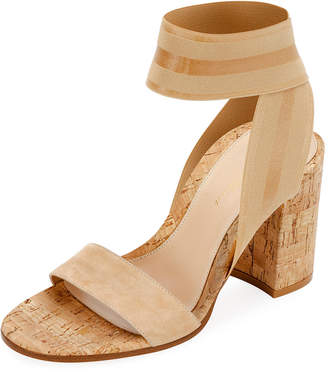 ad2306ca013 Gianvito Rossi Stretch-Strap Cork Sandals