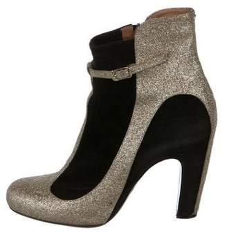 Maison Margiela Glitter Ankle Boots