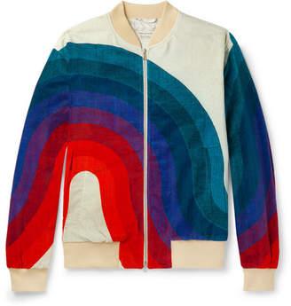 Dries Van Noten Cotton-Velvet Jacquard Bomber Jacket
