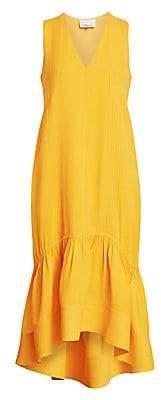3.1 Phillip Lim Women's Pleat Detail Flounce Hem Midi Dress