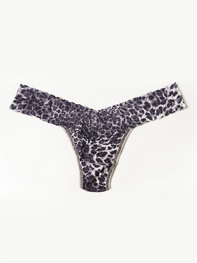 Hanky Panky Blurry Leopard Low-Rise Lace Thong