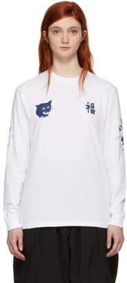Blue Blue Japan White Fuku-Tora-Ryu T-Shirt