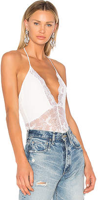 h:ours V Neck Lace Bodysuit