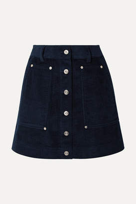 ebf4fd8ae95a Proenza Schouler Pswl Cotton-corduroy Mini Skirt - Navy