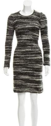 Etoile Isabel Marant Leather-Trimmed Knit Dress