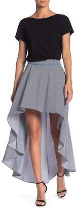 Grey Lab Striped Hi-Lo Skirt