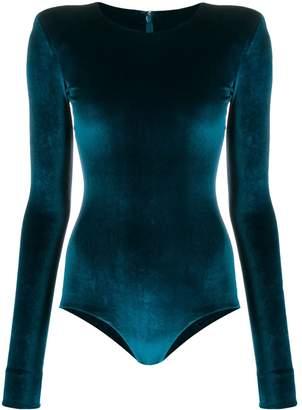 Alexandre Vauthier velvet bodysuit