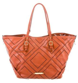 Burberry Perforated Leather Salisbury Tote