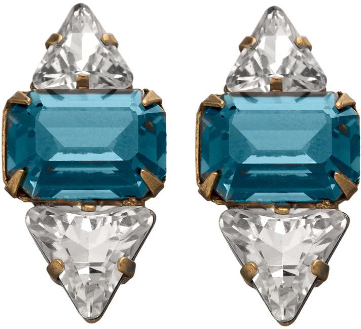Elizabeth Cole Deco Stud Earrings