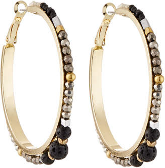 Nakamol Crystal Beaded Hoop Earrings