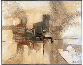 One Kings Lane Vintage Midcentury Abstract Painting - Antiquarian Art Company Art
