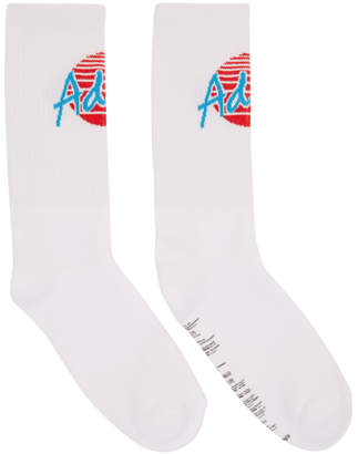 Palm Angels White Adios Socks