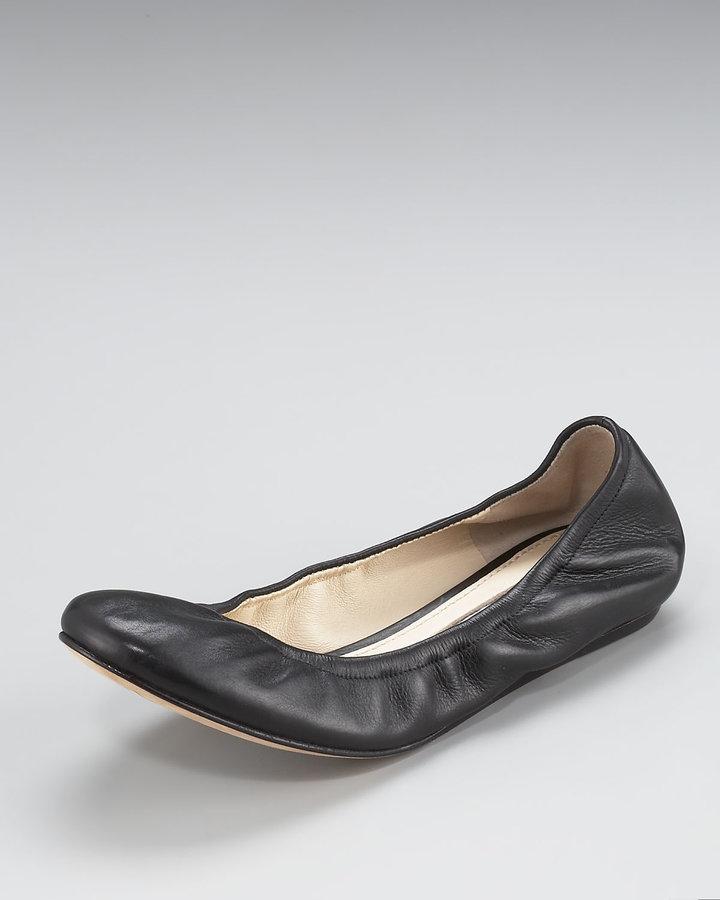Vera Wang Lavender Lillian Scrunched Ballerina Flat