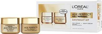 L'Oreal Age Perfect Cell Renewal Day with SPF 15 and Night Face Moisturizers with LHA Gift Set