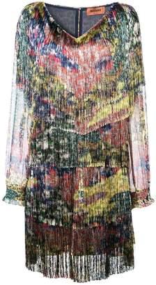 Missoni fringed shift dress