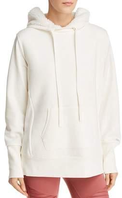 Alo Yoga Heat-Up Sherpa Fleece-Lined Sweatshirt