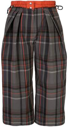 Sacai cropped checked trousers